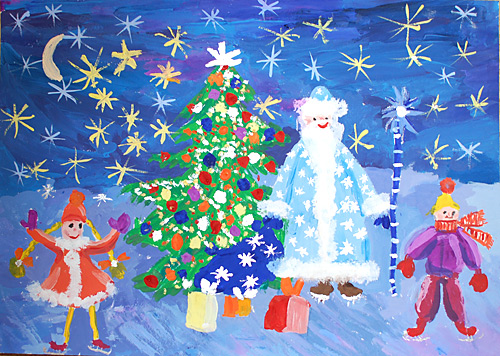 Картинки на тему нового года детские